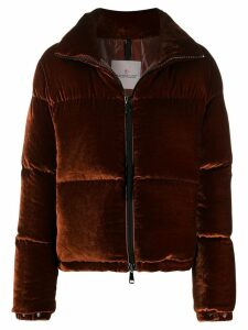 Moncler high-neck padded jacket - Brown