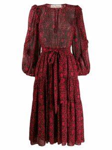 Ulla Johnson printed silk dress - PINK