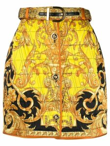 Versace Barocco print skirt - Yellow