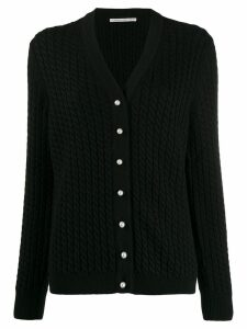 Alessandra Rich cable knit cardigan - Black