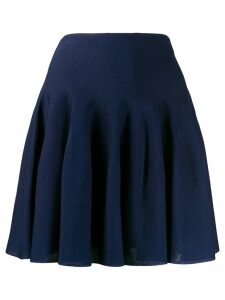 Givenchy pleated high-rise mini skirt - Blue
