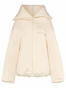 Jil Sander contrast stripe overcoat - Neutrals