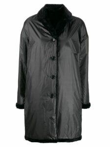 Aspesi reversile hooded coat - Black