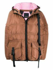 Pinko padded puffer coat - Brown