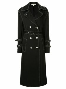 Jonathan Simkhai stitching detailed trench coat - Black