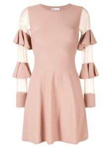 Red Valentino sheer panels short dress - Pink
