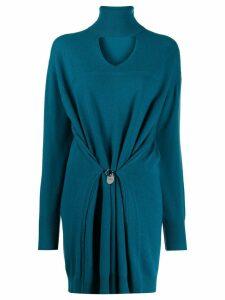 Diesel cut-out turtleneck sweater dress - Blue