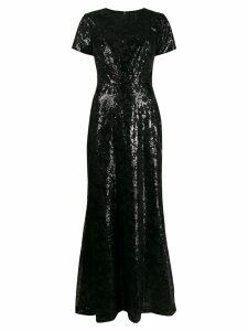 Lauren Ralph Lauren floral sequinned dress - Black