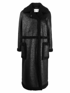 STAND STUDIO Adriana faux-shearling coat - Black