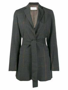 Fabiana Filippi belted check jacket - Grey