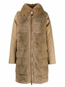 Herno faux fur coat - Brown