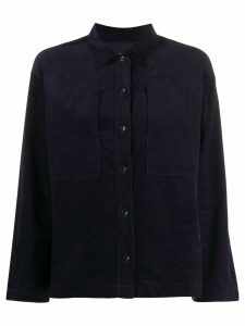 YMC long sleeved corduroy shirt - Blue