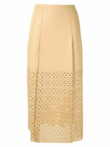 Nk Mestico Paula leather skirt - Yellow