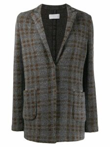 Fabiana Filippi plaid coat - Grey