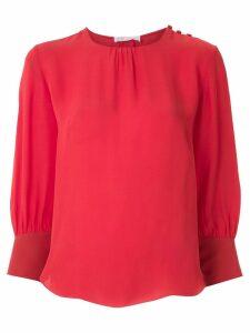 Nk Romain Monsoes silk blouse - Red