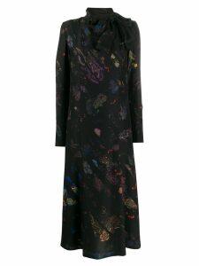 A.F.Vandevorst graphic print maxi dress - Black