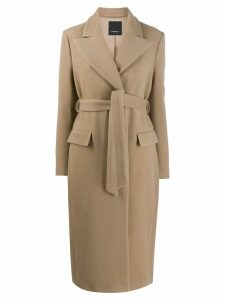 Pinko button front coat - Neutrals