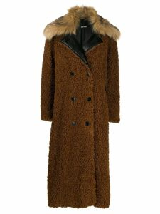 Diesel double breasted teddy coat - Brown
