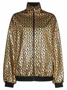 Gucci metallic logo-print track jacket - Black