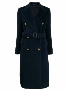 Tagliatore double breasted coat - Blue