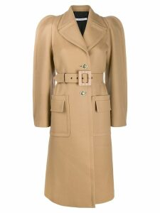 Givenchy single-breasted belted coat - Brown