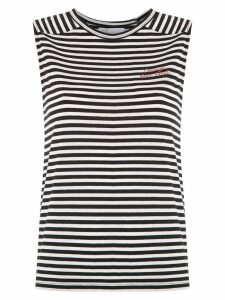 Nk striped Ruby tank - White