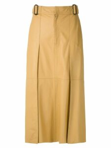 Nk Mestico Renata leather skirt - Yellow