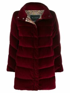 Etro padded zip up coat - Red