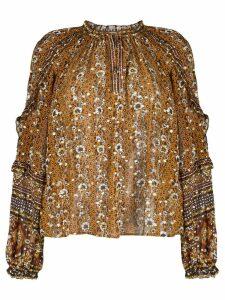 Ulla Johnson floral print blouse - Orange