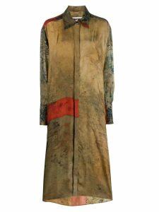 Uma Wang midi shirt dress - Brown