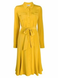 Diane von Furstenberg tie-waist shirt dress - Yellow