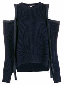 Stella McCartney Havana cold-shoulder jumper - Blue