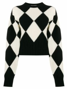 Pringle of Scotland Argyle short-length jumper - Black