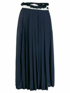 Golden Goose Hasu pleated midi skirt - Blue