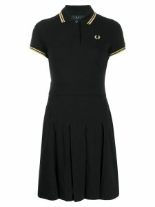Fred Perry embroidered logo polo dress - Black