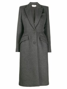 ALEXANDER MCQUEEN single breasted fitted coat - Grey