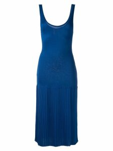 Mara Mac knit pleated midi dress - Blue