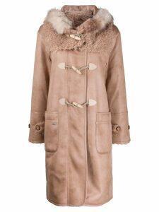 Urbancode hooded duffle coat - PINK