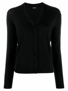Aspesi button fine knit cardigan - Black