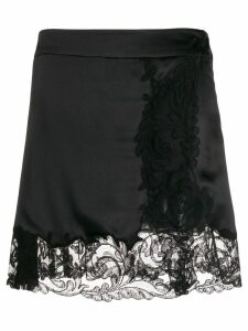 Versace lace trim skirt - Black