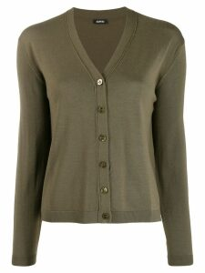 Aspesi button fine knit cardigan - Green