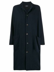 Plantation fitted single-breasted coat - Blue