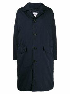 Aspesi single breasted lightweight coat - Blue