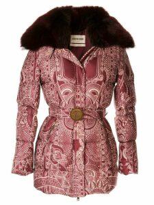 Roberto Cavalli printed puffer jacket - Red