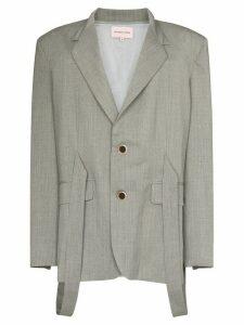 Natasha Zinko strap-detailed blazer - Grey