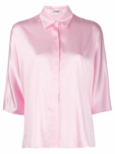Styland button collar shirt - Pink