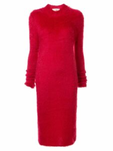 Ports 1961 colour block knitted dress - Red