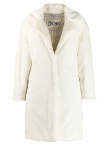Herno faux fur coat - Neutrals