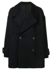 Ami Paris Oversize Peacoat - Blue