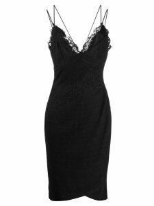 Ermanno Scervino lace trim knitted dress - Black